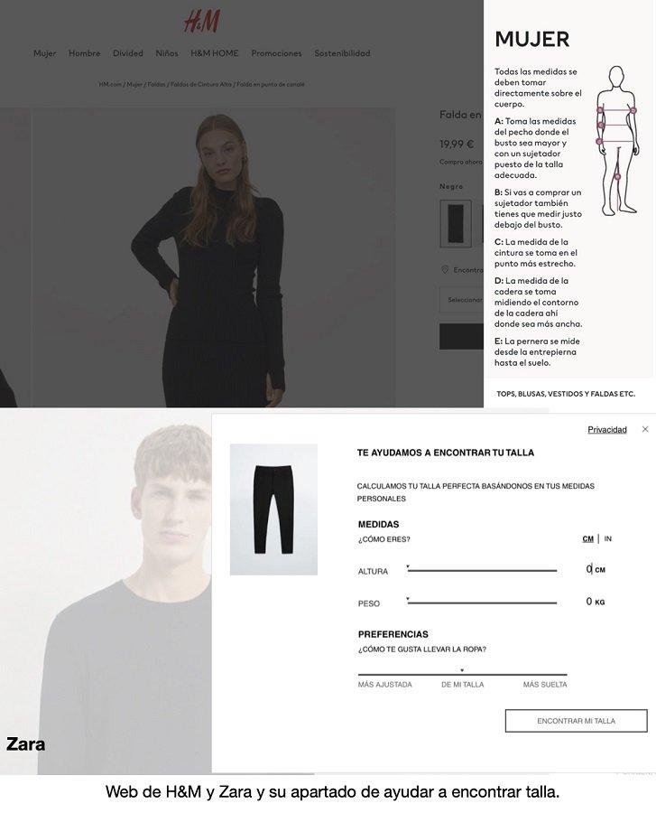 Comprar online - guía de tallas